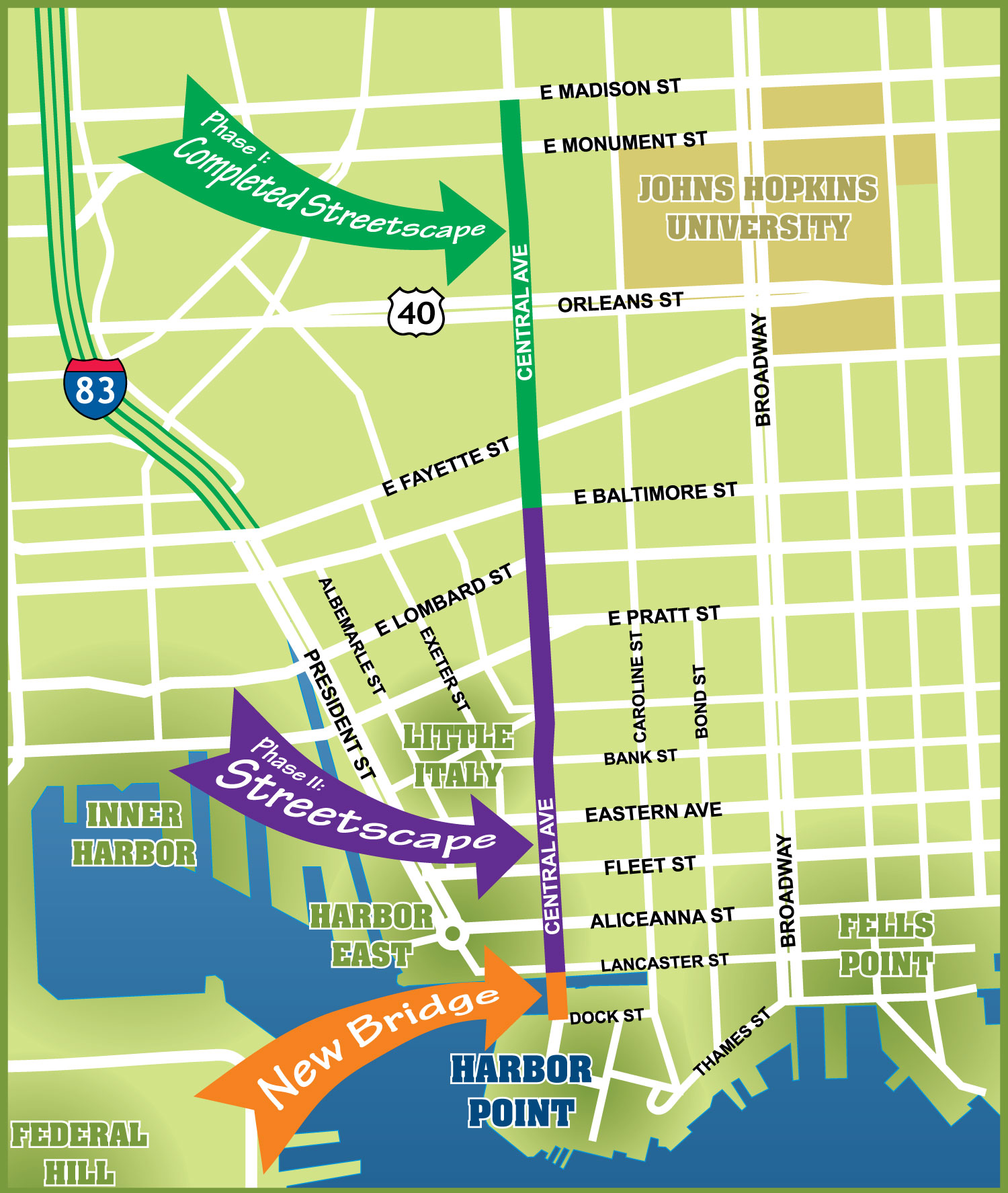 Central Avenue Map